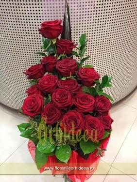 Buchet de trandafiri rosii - Te iubesc pana la Cer