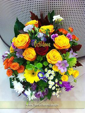 """Aranjament floral multicolor """"La Multi Ani!!"""""""