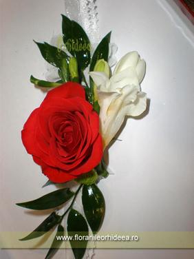 Bratara domnisoara de onoare - rosu