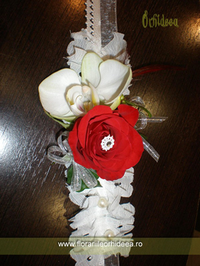 Bratara trandafir, orhidee