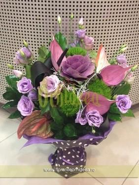 Buchet de flori mov-lila