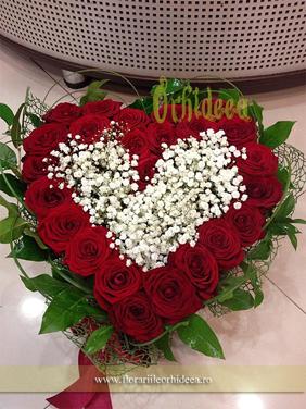 Inima de trandafiri - Te iubesc