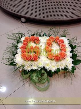 Tort floral aniversar